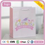 Bolsas de papel revestidas del regalo del arte rosado de los niños del pájaro