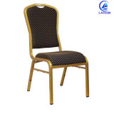 ホテルの家具の卸売のスタック可能鋼鉄金属フレームの金カラー宴会の椅子