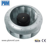 250mm de chapa de acero galvanizado curvados hacia atrás rodete Ventilador Centrífugo Motor EC