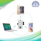 iPhoneのパソコンのアンドロイドのための1人のマイクロSDのカード読取り装置電光USB 2.0 OTG TFのカードのメモリ・カードの読取装置に付き3人