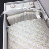 Jogos por atacado tecidos jacquard do laço de seda com a caixa de presente de harmonização