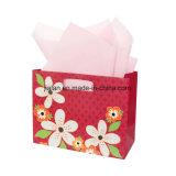 Bolsa de papel del brillo que hace compras con diseño especial en precio bajo