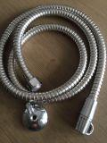 Boyau de douche durable d'acier inoxydable d'eau chaude, longueur de 1.2m, EPDM, noix en laiton, avec la protection à l'épreuve des explosions