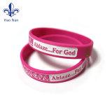 Bracelet promotionnel fait sur commande de bracelet de silicones de cadeau de vente chaude/silicones