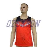 乾燥した適合は体操の一重項を実行している昇華させた青年人をカスタム設計する