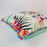 Coxim quadrado tropical impresso Digitas quente de Competitve 45X45cm Flamigo