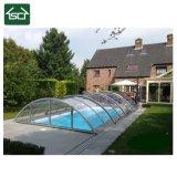 Desplazamiento del policarbonato de la seguridad o cubierta telescópica de la piscina