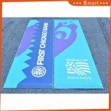 Bandiera esterna del tessuto del vinile stampata abitudine delle riparazioni poco costose del PVC