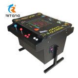 レトロのアーケード・ゲームのコントロール・パネルの低い小テーブルのアーケード機械ゲーム表