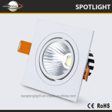 China de aluminio Venta caliente 7W LED de Plaza de la COB Spotlight luz tenue