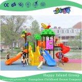 2018 Novo Teto Cogumelo amarelo ao ar livre parque infantil com equipamentos Girassol (H17-B2)