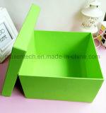 Kundenspezifischer einfacher Entwurfs-Grün-großes Papier-Geschenk-Kasten mit Kappe für Kosmetik