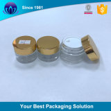 A tampa de parafuso plástico ouro para estanqueidade boião de creme Cosméticos