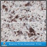 Lastre di superficie solide acriliche costruite di Staron del quarzo artificiale bianco