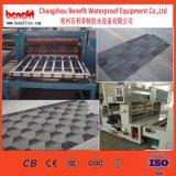 Impermeabilización de cubiertas de asfalto culebrilla escala de peces de la línea de producción de azulejos estándar
