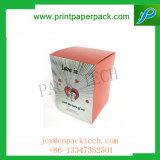 El lujo que graba el rectángulo de almacenaje reciclable de la tarjeta de papel del abastecimiento embotella Fot perfume