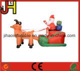 Decorazione gonfiabile personalizzata di natale, slitta gonfiabile della Santa da vendere