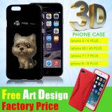 La aduana del fabricante DIY personalizó la caja suave del teléfono móvil de la célula de la PC de la impresión 3D de la insignia de la cubierta de la cubierta de la sublimación linda TPU/Silicone de los accesorios para el iPhone 6/7 más