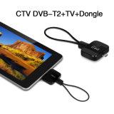 Receptor terrestre DVB-T del palillo de la pista TV del T2 del sintonizador DVB del USB TV del USB DVB-T2 para la tablilla androide del teléfono