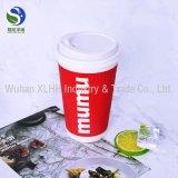 Kundenspezifisches Wegwerffirmenzeichen druckte heißer Kaffee Isolierkräuselung-Wand-Papiercup