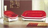 Sofà domestico del cuoio genuino della mobilia con legno rosso