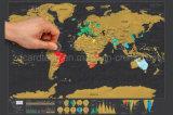 """Gift 24 van de reis """" X16 """" de Kras van de Grootte van de Kaart van de Wereld met LuxeBuis"""