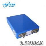 Призматический аккумулятор LiFePO4 3.2V элементов аккумуляторной батареи 60AH аккумуляторная батарея питания