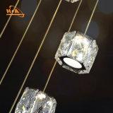 Iluminación pendiente ligera cristalina de la lámpara de la belleza LED moderna