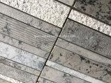 スタックされたパターン灰色の大理石の石造りのモザイク・タイル