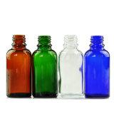 多色刷りの精油のガラスビン