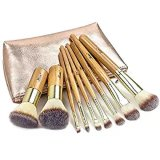 Custom 9PCS Pinceaux de maquillage professionnel ensemble avec support de PU