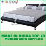 현대 디자인 실제적인 가죽 2인용 침대