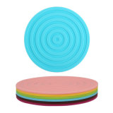 Silicone Placemat/silicone Non-Slip Placemat/esteira Food-Grade do Cornflower da forma redonda de Colorflu do silicone