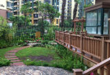 De rekupereerbare Nieuwe Materiële Decoratieve Omheining van de Tuin WPC/van het Park/van het Balkon