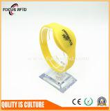 Wristband impresso logotipo /Bracelet Lf/Hf/UHF do plástico/silicone