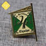Distintivi su ordinazione della bandierina del metallo all'ingrosso di buona qualità