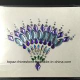 Стикеров тела партии кожи Китая самые лучшие продавая стикеры стороны драгоценностей тела стикеров комода Rhinestone безопасных акриловые (FS069)