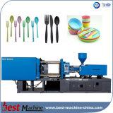 Simples e fácil de máquina de fazer colher pequena de plástico