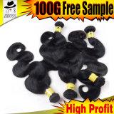 人間の毛髪材料が付いているFumiの優秀なブラジルの毛