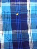 Garn gefärbtes Ausdehnungs-Plaid-Popelin-Hemd für Bemannen-Tasche Abgleichung mit einzelnem Pkt