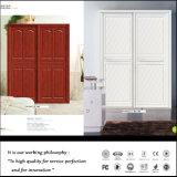Wardrobe da porta deslizante de placa de partícula E1 com cinzeladura