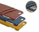 iPhone 6sのためのカードスロットPUの革箱