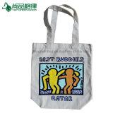かわいく再使用可能で自然なショッピング・バッグのハンドバッグのキャンバスの布の食料雑貨入れの袋
