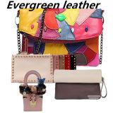 A bolsa popular de couro real da forma dos sacos de embreagem das mulheres por atacado da alta qualidade franze Emg4892