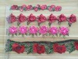 Шнурок конструкции 3D цветка горячего сбывания цветастый