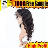 Medio producto de pelo de la alta calidad de la peluca del cordón del pelo brasileño