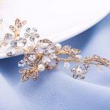 형식 은 또는 금 꽃 Tiara 신부 머리띠 진주 Tiaras 신부 결혼식 머리 부속품