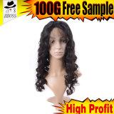 Demi de produit capillaire de qualité de perruque de lacet de cheveu brésilien