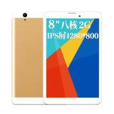Tablette de téléphone de faisceau de quarte d'ODM Mtk6582 d'OEM avec du SYSTÈME D'EXPLOITATION androïde 8 WiFi 3G GPS de pouce