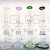 Tubo di acqua diritto di vetro di tubo della caffettiera a filtro del Birdcage di Colorclassice della miscela di Gldg con il prezzo di fabbrica